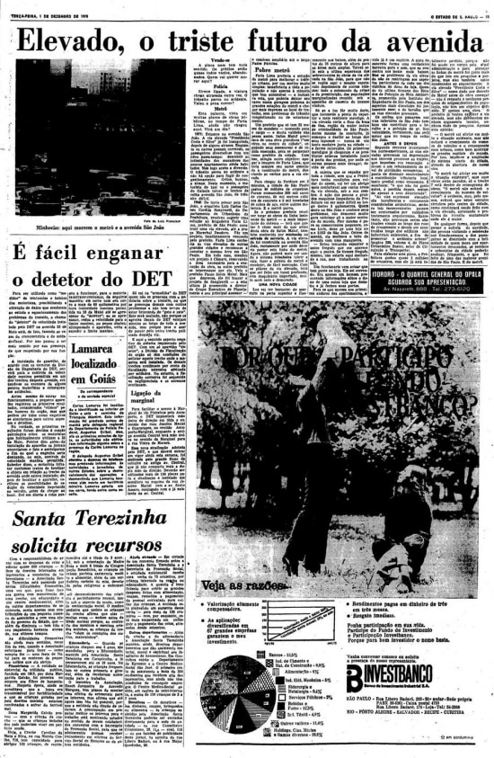 Página do jornalde 1/12/1970