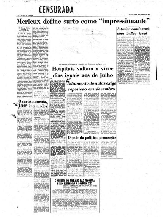 Página censuradade 14/8/1974