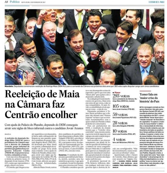 > Estadão - 03/02/2017