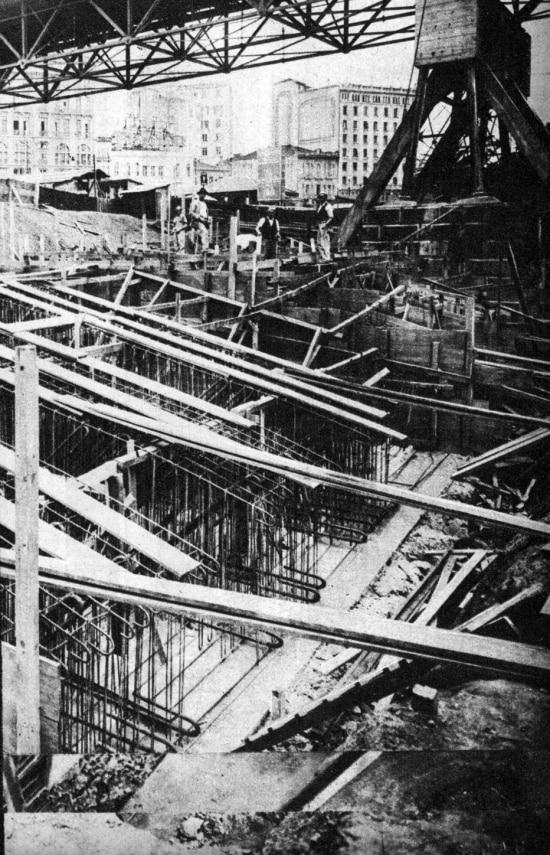 Construção do novo Viaduto do Chá, 1937.
