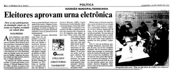 >> Estadão -14/7/1996