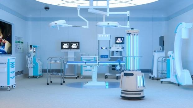 Robôs de desinfecção