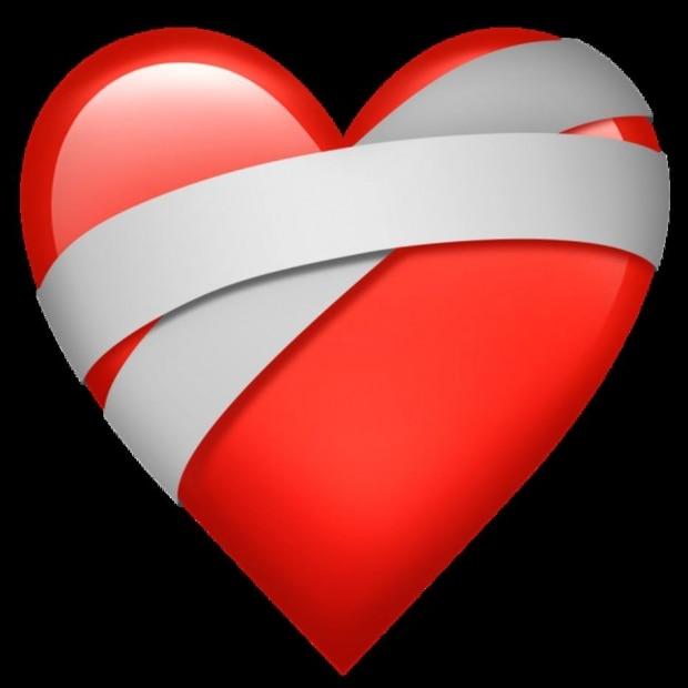 Emoji de coração partido