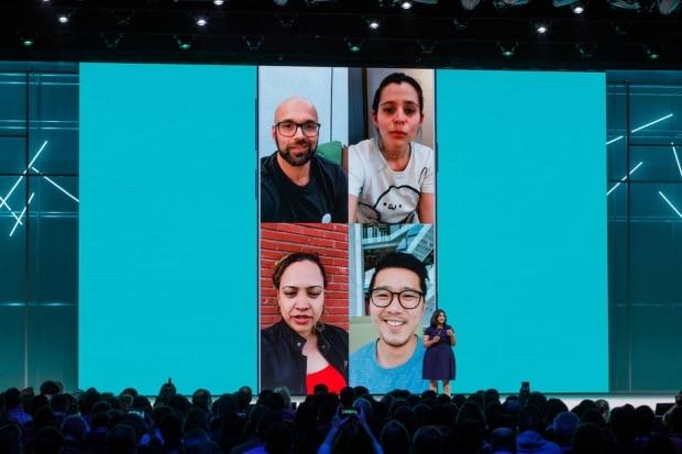 Chamadas de vídeo em grupo