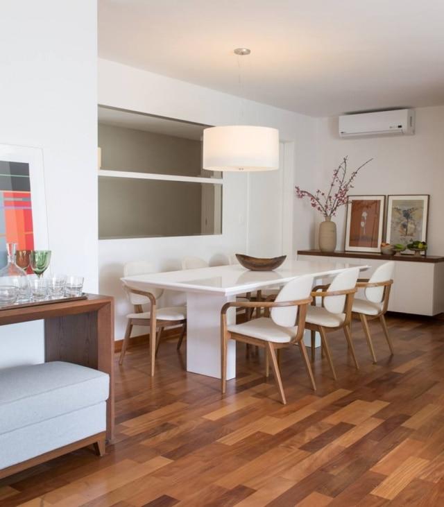 Detalhe da sala de jantar de apartamento reformado e decorado pela Ah!Sim em São Paulo