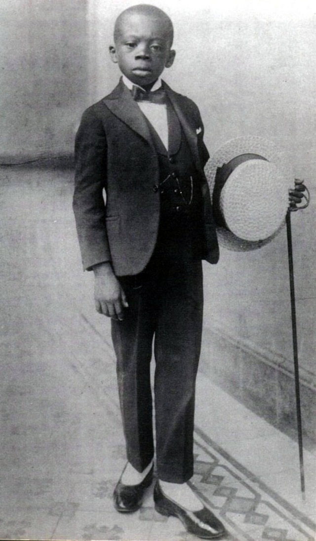 Foto deGrande Otelo em sua infância.