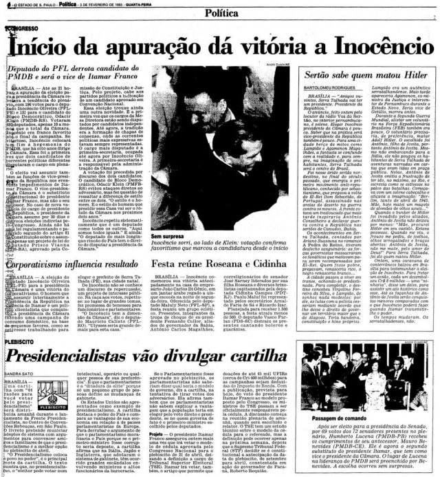 > Estadão - 03/02/1993