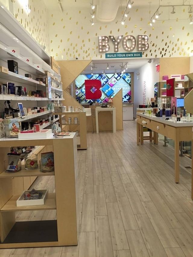Primeira loja física da empresa de cosméticosBirchbox, em Nova York, que já era sucesso no mundo virtual