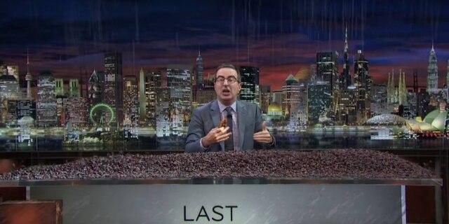 Chuva de uva passa no 'Last Week Tonight'