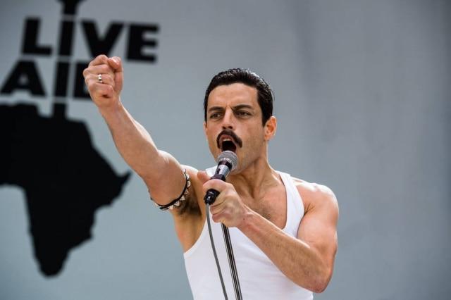 Rami Malek no filme 'Bohemian Rhapsody'.