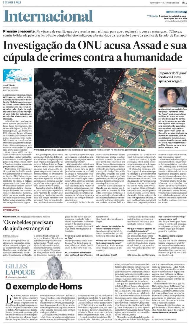 > Estadão - 24/2/2012