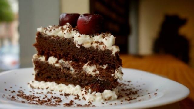 Torta floresta negra do Imbiss