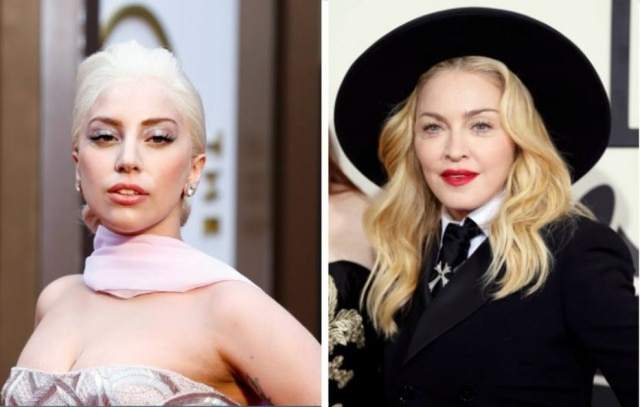 As artistas Lady Gaga e Madonna