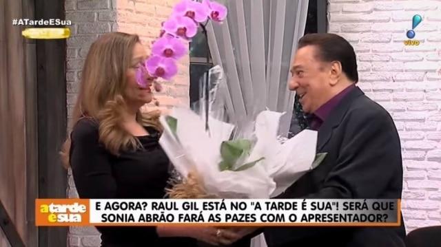 Sonia Abrão e Raul Gil
