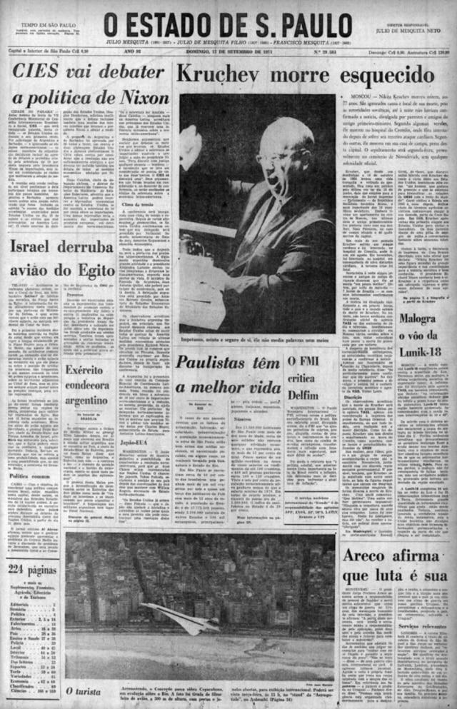 O Estado de S.Paulo - 12/9/1971