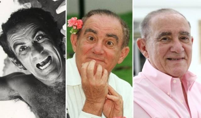 Renato Aragão em momentos distintos de sua carreira, em 1980, 1999 e 2017.