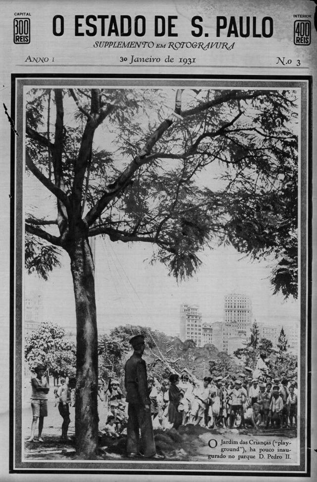 Jardim das Crianças, no parque D. Pedro em janeiro 1931.
