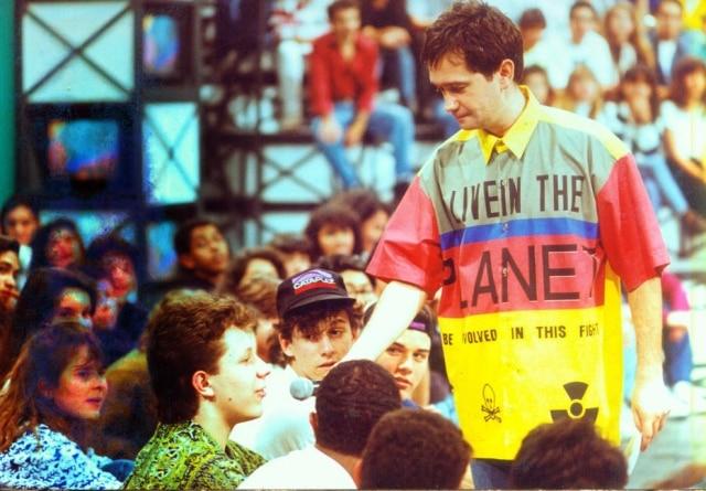 Serginho Groisman como apresentador do 'Programa Livre' em setembro de 1992