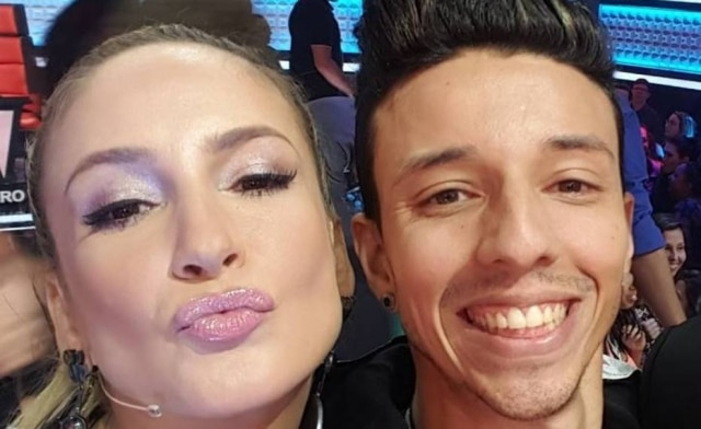 Claudia Leitte e Rafah no 'The Voice' em 2016.
