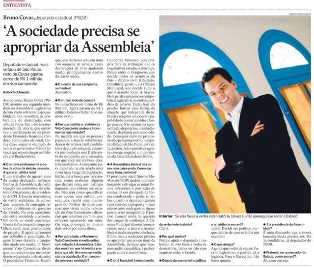 >> Estadão - 05/10/2010