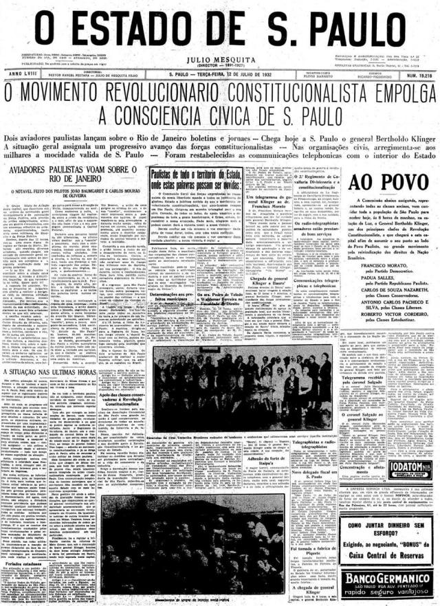 Estadão - 12/7/1932