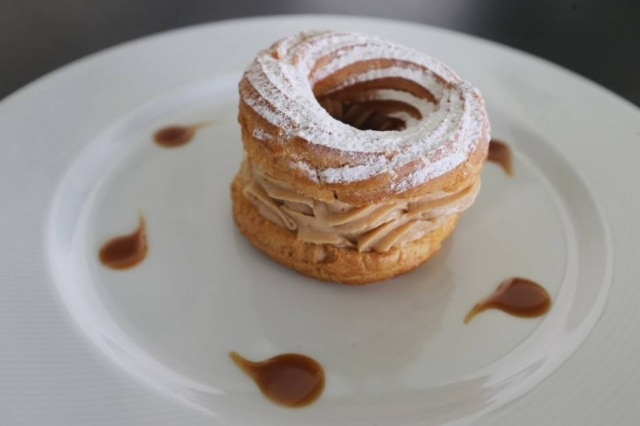 As sobremesas francesas como o Paris Brest, são pedidas certeiras