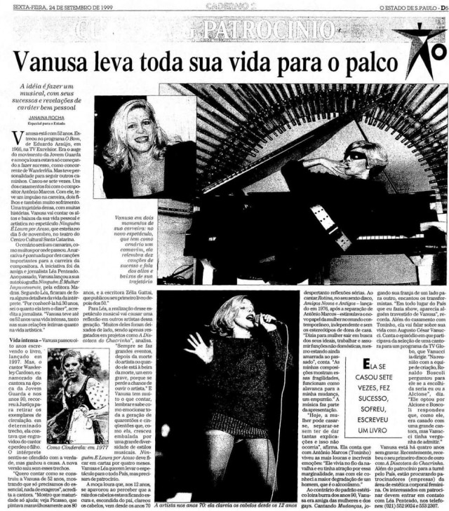 A vida de Vanusanummusical em 1999