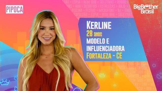 Aos 28 anos de idade, Kerline trabalha como modelo em Fortaleza.