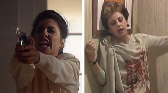 Cena em que Leila (Cassia Kis) atirava em Odete Roitman (Beatriz Segall) foi gravada em 6 de janeiro de 1989.