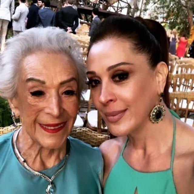 Claudia Raia e a mãe, Odette Motta Raia.