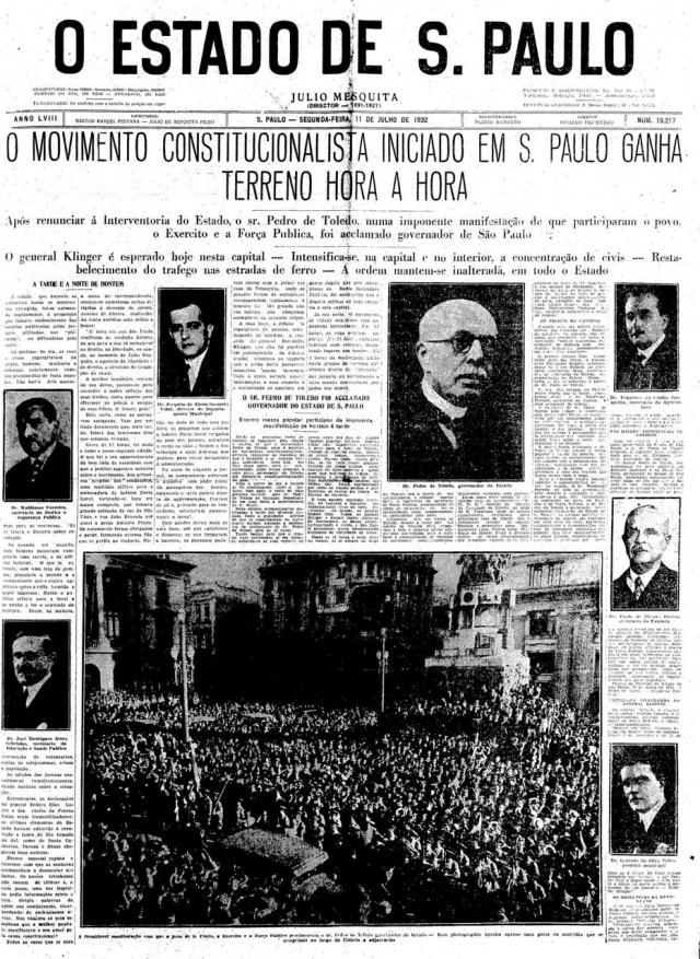 Estadão - 11/7/1932