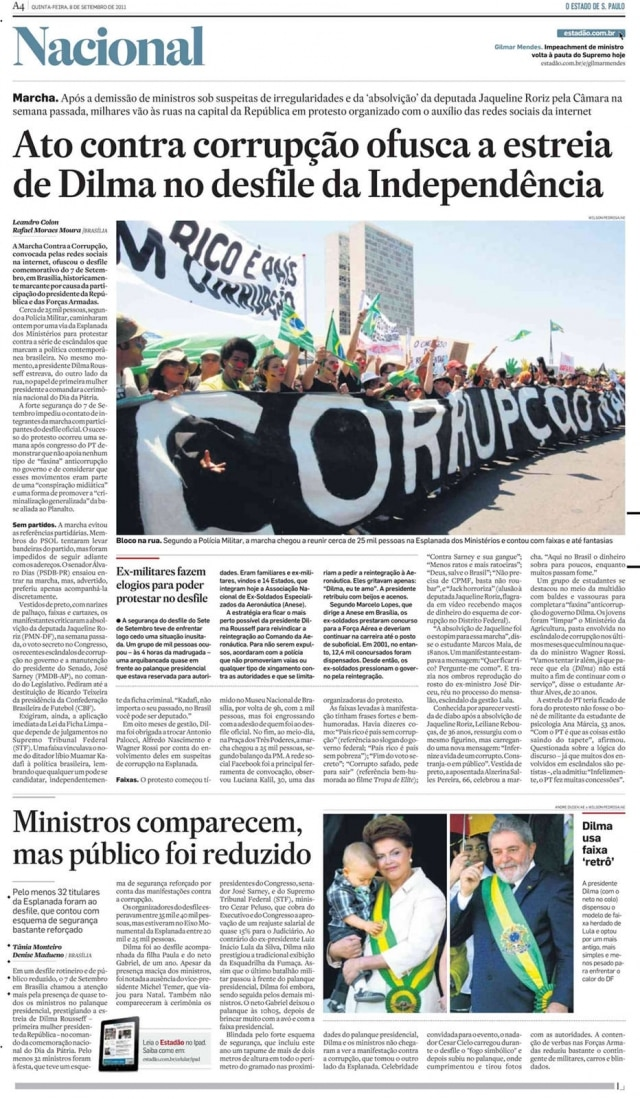 > Estadão - 08/9/2011