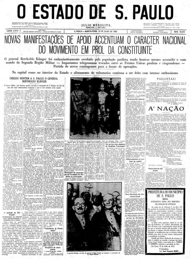 Estadão 13/7/1932