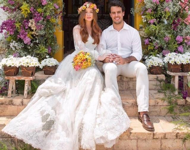 Marina Ruy Barbosa e Xandinho Negrão casaram-se quatro vezes