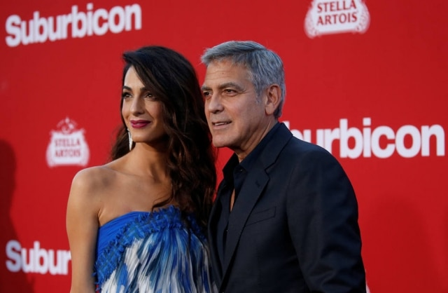 George Clooney e Amal Clooney.
