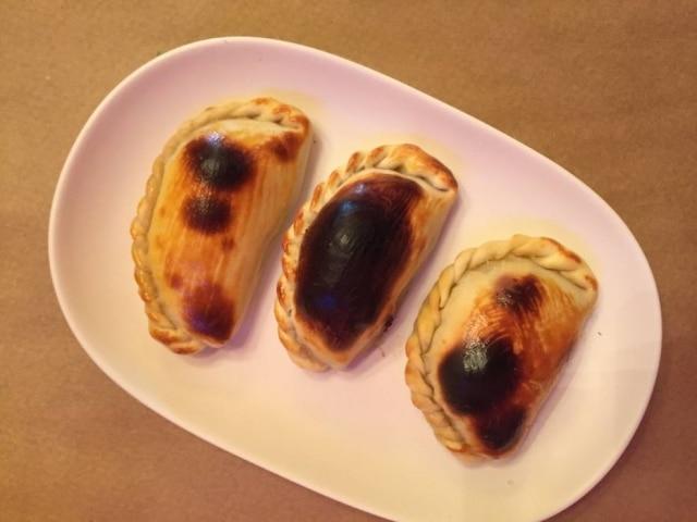 Empanadas do restaurante Che Bárbaro