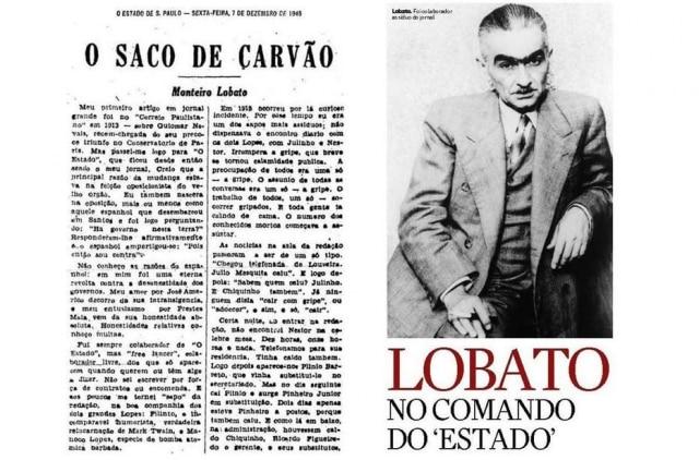 Monteiro Lobato assumiu o comando do Estadão em meio à epidemia de gripe espanhola em 1918.Clique aqui para saber mais