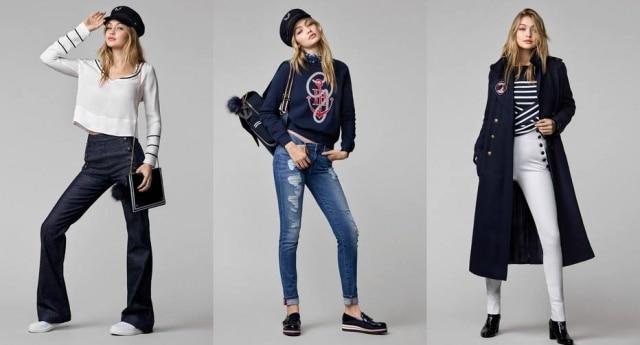 A modelo Gigi Hadid assina a linha Tommy x Gigi em parceria com a Tommy Hilfiger