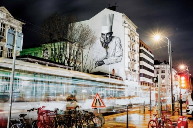 Mural do chef em Lyon