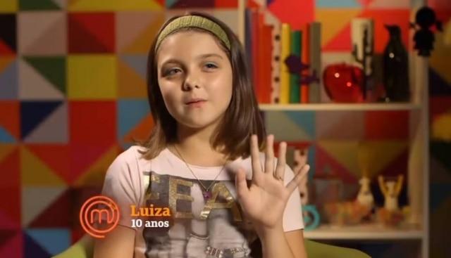 Luiza esteve entre os participantes do 'MasterChef Júnior' em 2015