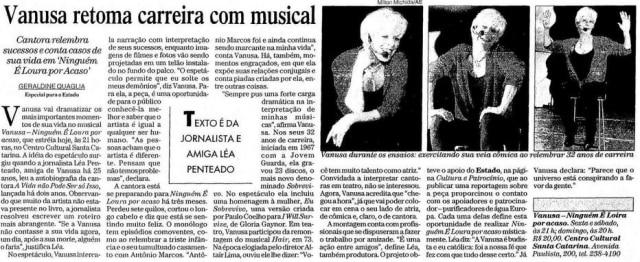 """Vanusa em 'Ninguém é Loura por Acaso"""" em 1999"""