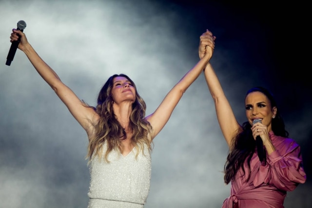 Ivete Sangalo e Gisele Bundchen abriram o primeiro dia de Rock in Rio.
