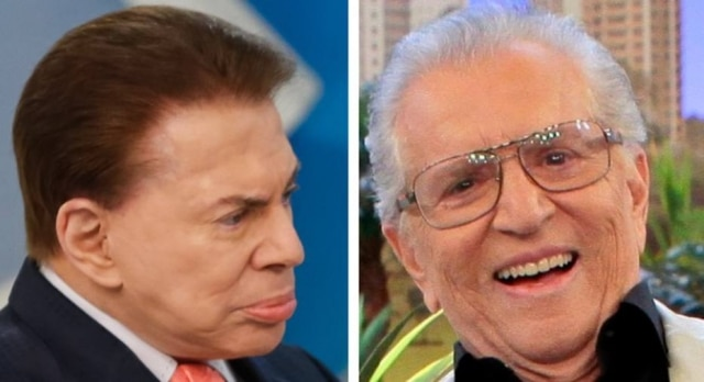 Silvio Santos e Carlos Alberto de Nóbrega