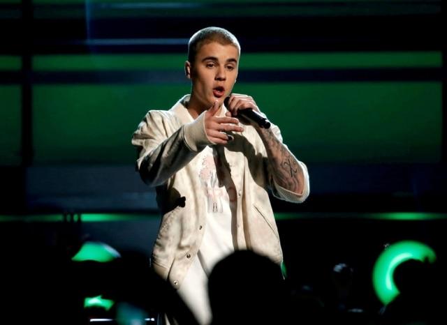 O cantor Justin Bieber.