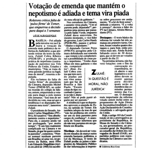 > Estadão- 9/2/2000