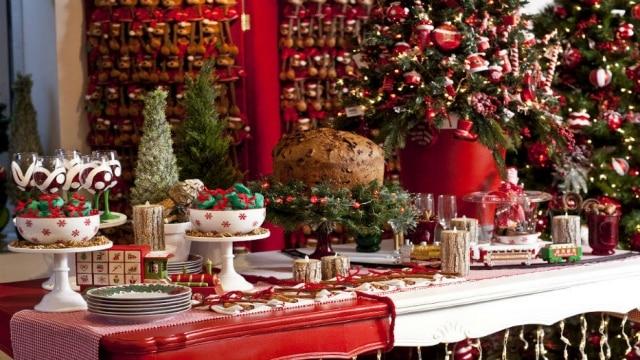 Mesa natalina decorada por Amelia Amaro