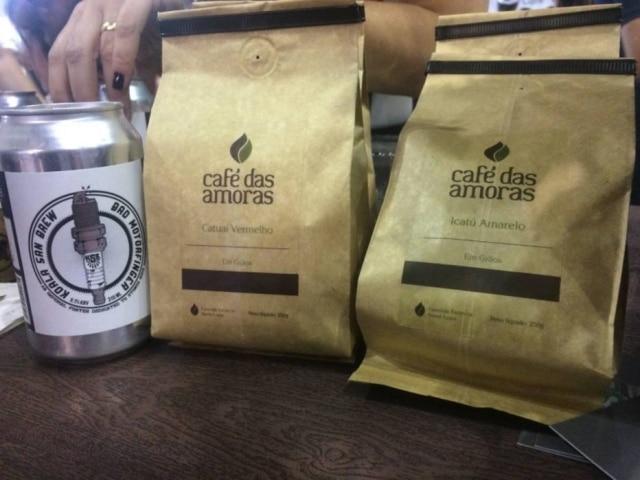 Linha de cafés e cerveja da marca Café das Amoras