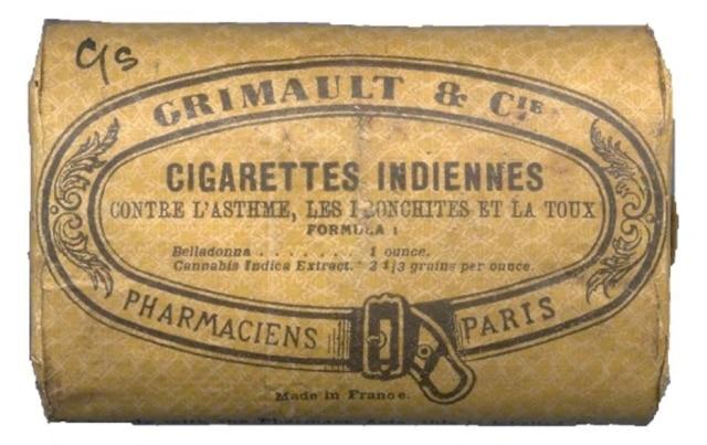 Embalagem dos cigarros índios da Grimault & C.