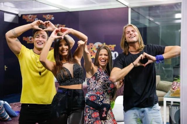 Caon, Ivy, Renata e Daniel, os participantes da Casa de Vidro do 'BBB 20'.