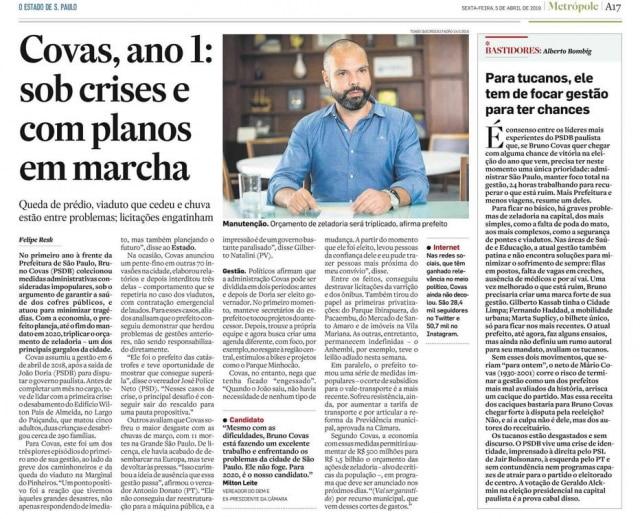 >> Estadão - 05/04/2019